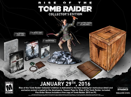 Edition collector Rise of the Tomb Raider sur PC