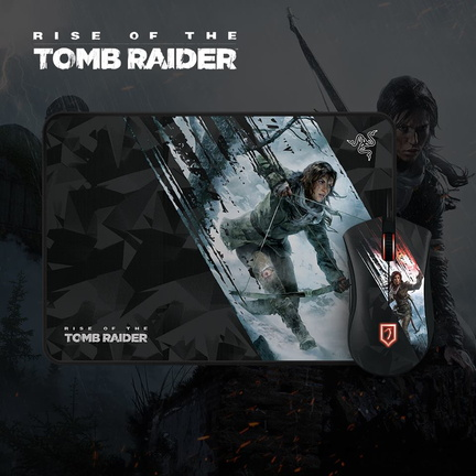 Tapis et souris Razer Rise of the Tomb Raider