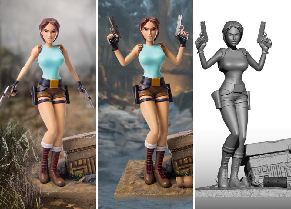 Statuette Tomb Raider 1 par Gaming Heads