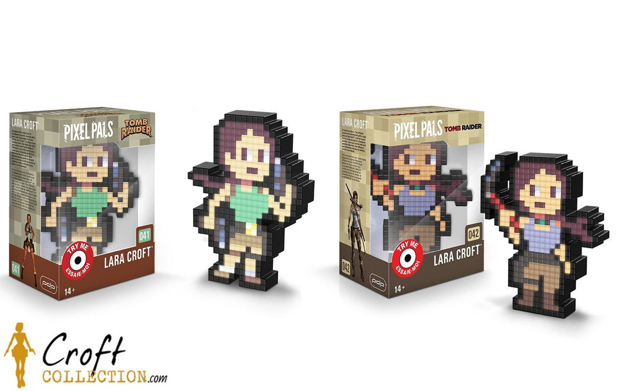 Figurines Pixel Pals Lara Croft lumineuses