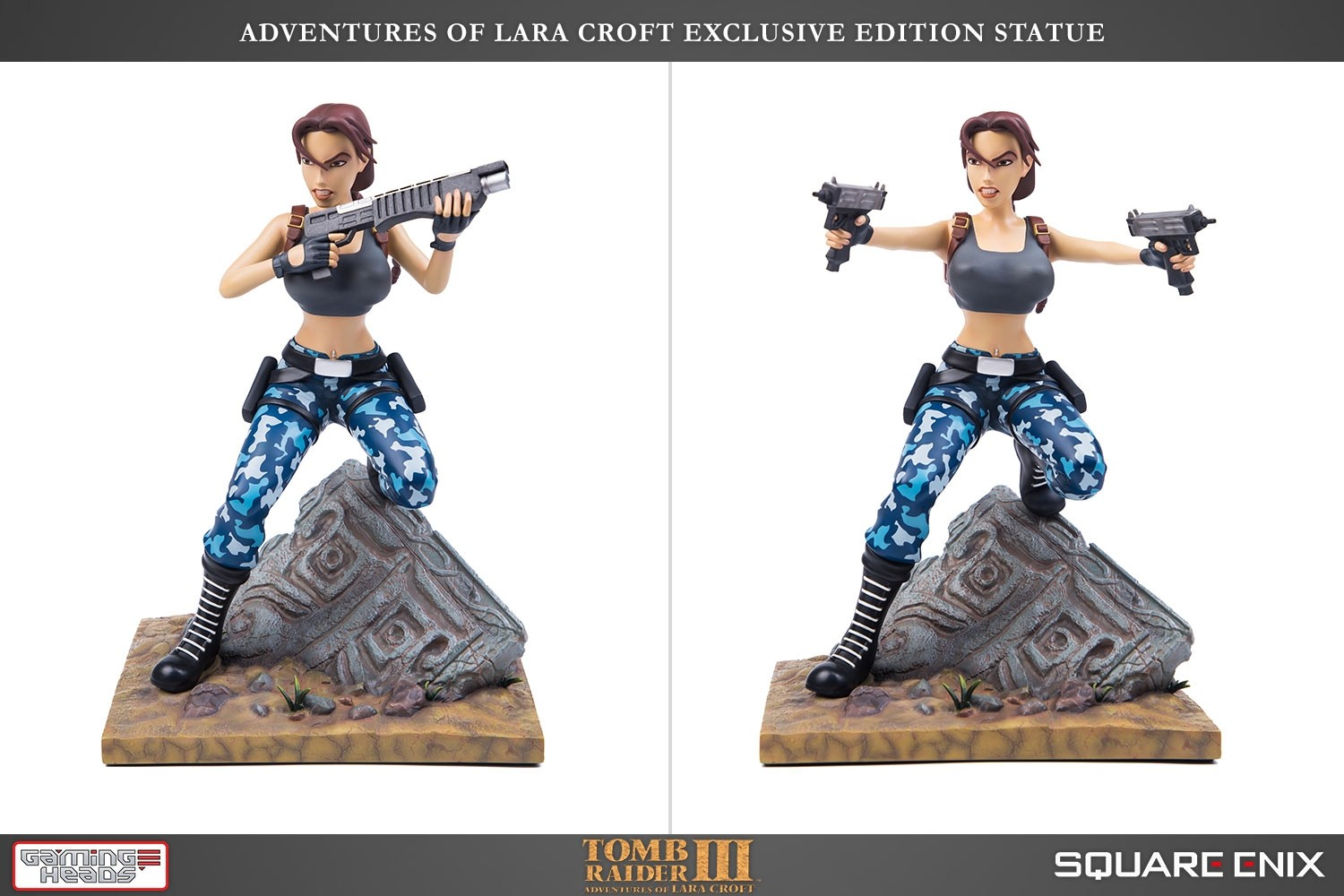 Statuette Gaming Heads Tomb Raider III : Adventures of Lara Croft