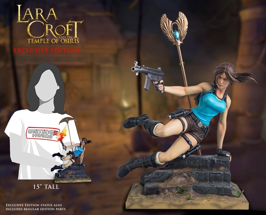 Statuette Gaming Heads Lara Croft & The Temple of Osiris