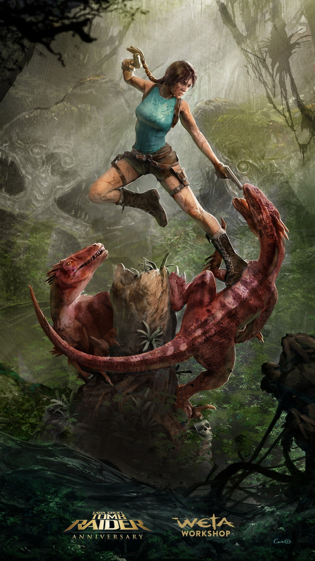 Concept Art Tomb Raider 25th Anniversary par Weta