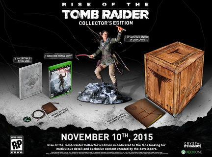 jeu Xbox One édition collector de Rise of the Tomb Raider